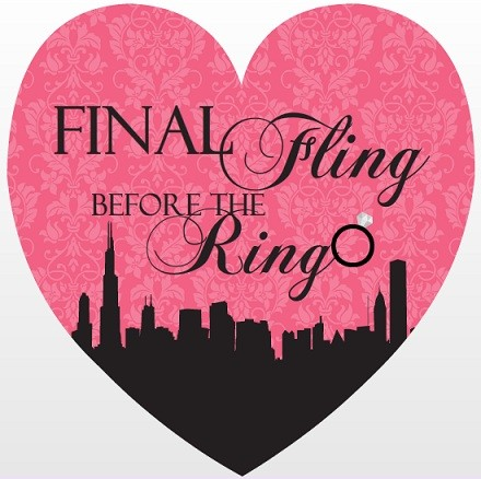 Pink City Fling Bachelorette Party Invitation