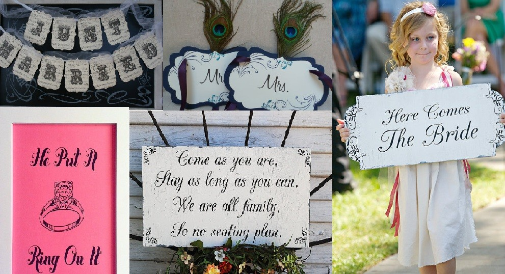 Simple Wedding Decor Ideas – Wedding Signs