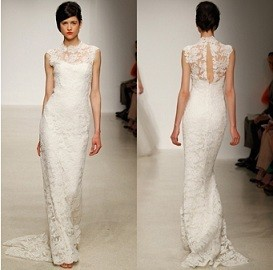 Portrait Back Amsale Wedding Gown