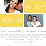 Yellow Stripe Wedding Invite