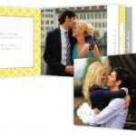 Yellow and Gray Wedding Program Booklet