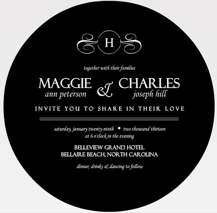 Vintage Wedding Invitations by Wedding Paperie – Black and White Vintage Wedding Invitations