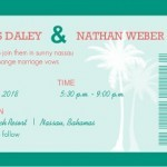 Turquoise Destination Wedding Invitation