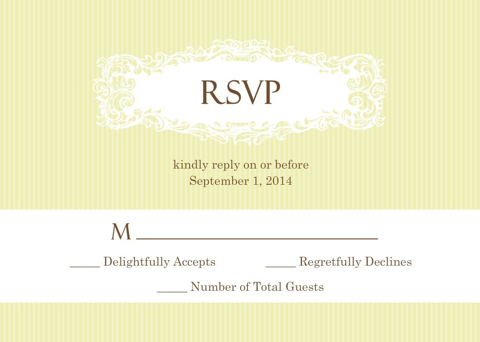 wedding rsvp wording response card samples etiquette