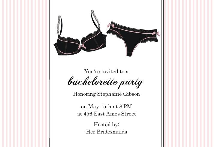 bachlorette invitation wording