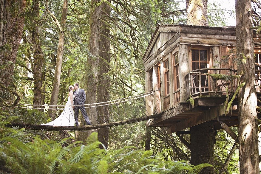 Outdoor Treehouse Part - 21: Treehouse Point Wedding. Photo Taken By Amanda Lloyd.